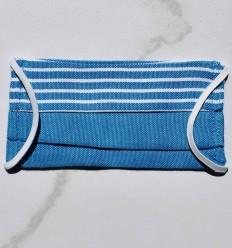 Masque de protection pour enfant bleu avec rayures