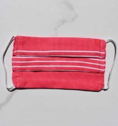 Masque de protection pour enfant rose avec rayures
