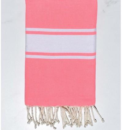 Serviette de plage Plate Rose Fluo
