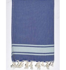 Mini Serviette bleu smalt et bleu clair