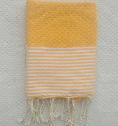 Serviette de table jaune ambre