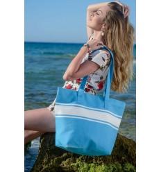 Sac de plage bleu azur