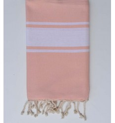 Fouta Plate rose pale