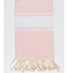 Serviette de plage plate rose très claire