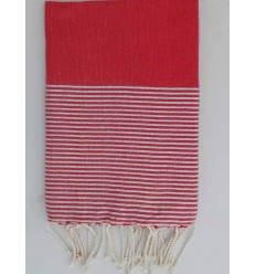 Fouta Lurex rouge