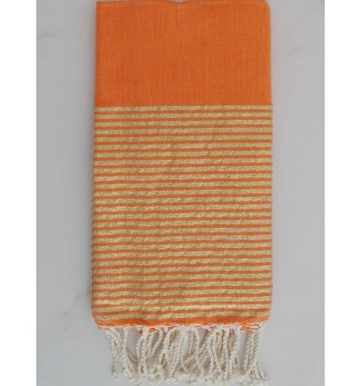 Fouta Lurex orange