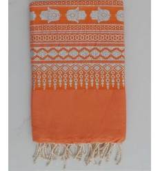 FOUTA KHOMSA Orange brûlé