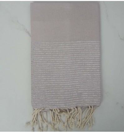 Fouta Lurex plate rose pale