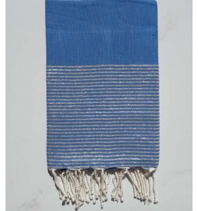 Fouta Lurex Bleu électrique