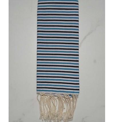 Enfant ziwane bleu azur, noir et blanc