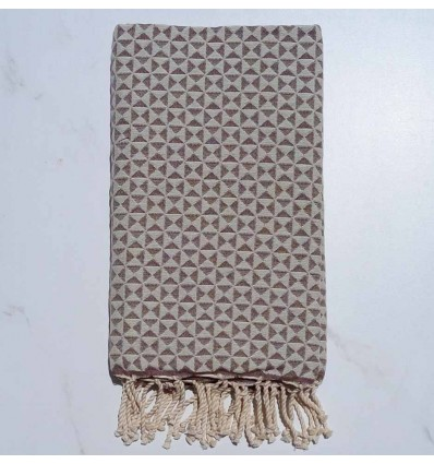 Fouta papillon marron