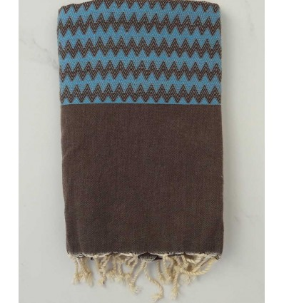 Fouta zigzag taupe