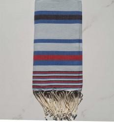 Fouta Dina bleu clair avec rayures