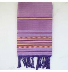 Fouta arabesque violet clair