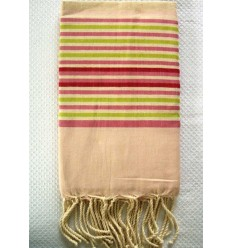 Fouta ziwane à rayures multicolores