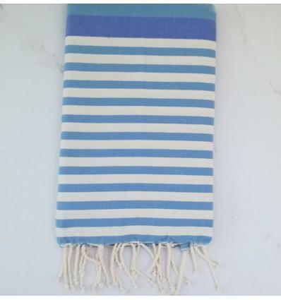 Fouta bleu et blanc