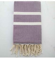 Fouta Chevron violet