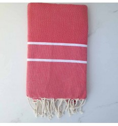 Fouta Chevron rose