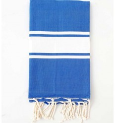 Fouta Plate bleu