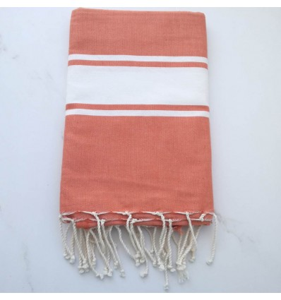 Fouta Plate rouge bismarck