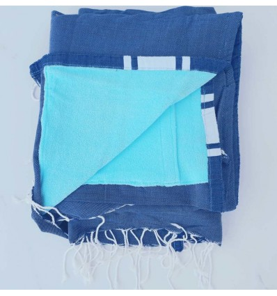 fouta éponge denim