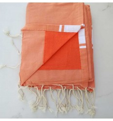 fouta éponge orange clair