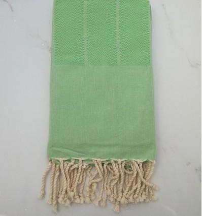 Fouta Chevron vert