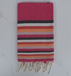 Fouta plate 6 couleurs avec rayures