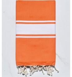 Fouta plate orange vif