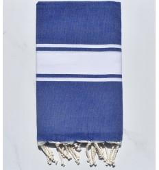 Fouta Plate Bleu jean avec rayures