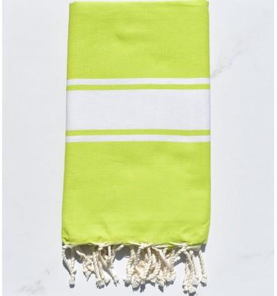 Fouta plate vert chartreuse