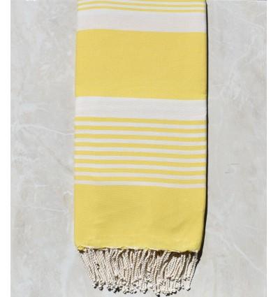 Grande fouta jaune or avec rayures