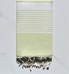 Fouta arthur vert pastel clair