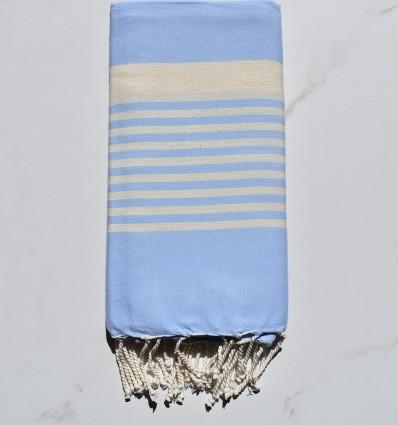 Fouta arthur bleu ciel