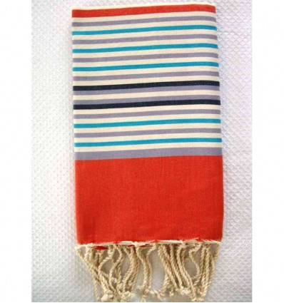 Fouta ziwane 5 couleurs orange