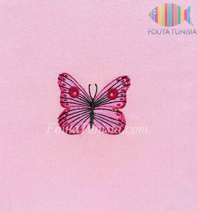 Fouta personnalisée papillon