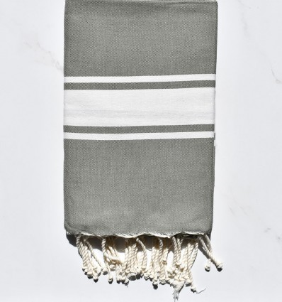 Fouta Plate vert militaire