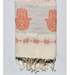 Fouta khomsa orange