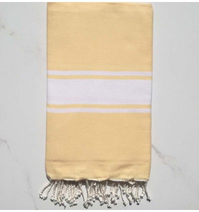 Fouta Plate jaune claire