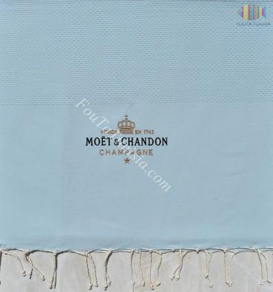Fouta personnalisée Moët & Chandon Champagne