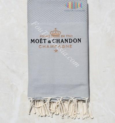 Fouta brodée Moët & Chandon