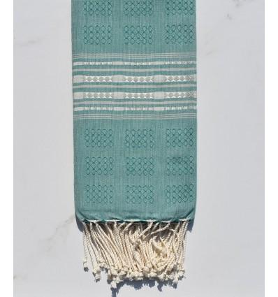 Fouta thalasso avec motifs pale