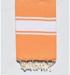 Fouta Plate orange clair
