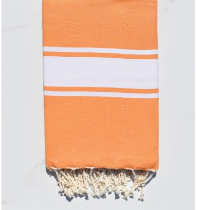 Fouta Plate orange clair