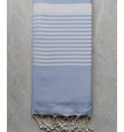 Jeté bleu pale clair 2m/3m