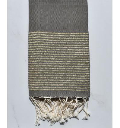 Fouta Lurex plate vert militaire