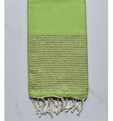 FOUTA Lurex plate vert lime