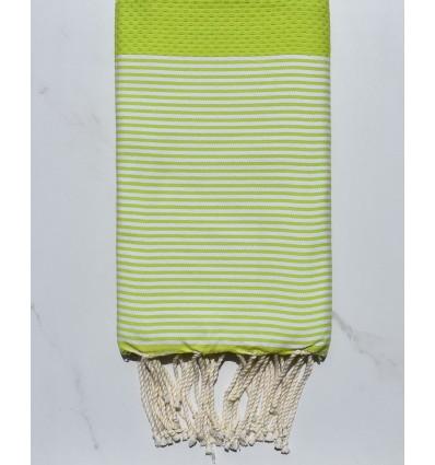 Vert lime rayée blanc