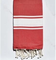 Fouta Plate rouge garance