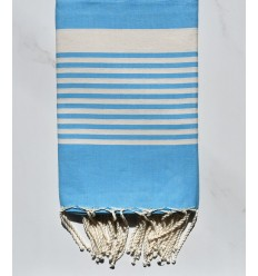 Fouta arthur bleu céléste